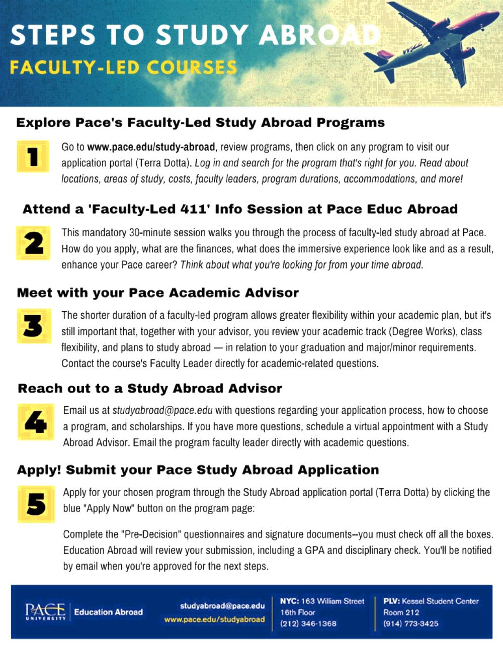 Steps to Faculty-Led Study Abroad, pg 1